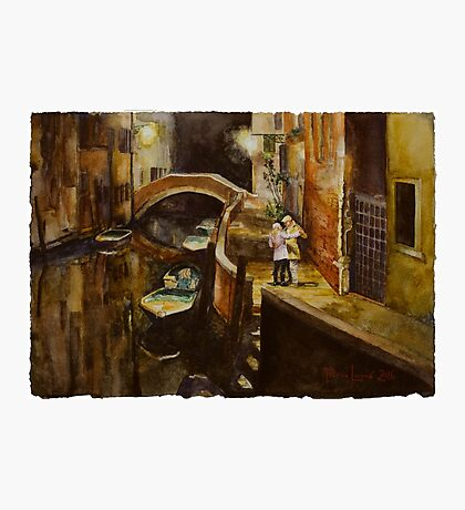 In Love In Venice watercolour painting by Paris Lomé Photographic Print