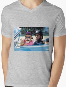 Ice Cube x Master Roshi Mens V-Neck T-Shirt