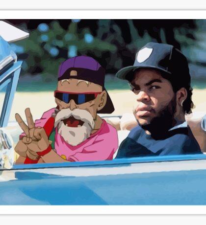 Ice Cube x Master Roshi Sticker