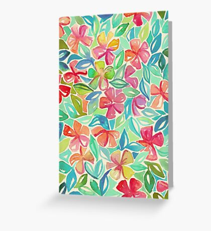 Tropical Floral Watercolor Painting Greeting Card