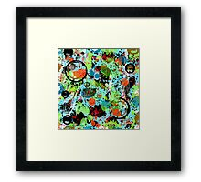 Food Fight Abstract Framed Print