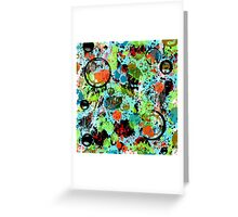 Food Fight Abstract Greeting Card