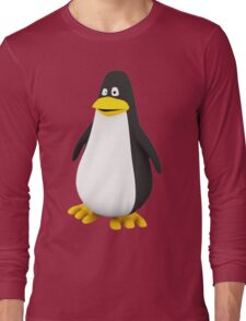Penguin With Black And Yellow Long Sleeve T-Shirt