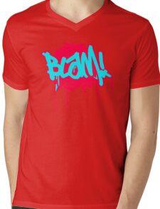 Blam Slogan Mens V-Neck T-Shirt