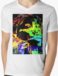 2pac Mens V-Neck T-Shirt