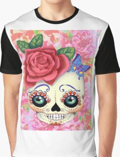 Groovy Sugar Skull (dia de Muertos)  Graphic T-Shirt