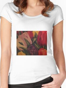 Tulpen ~Tulips Women's Fitted Scoop T-Shirt