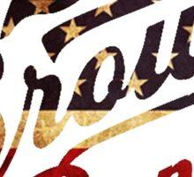 zac brown band logo america Sticker