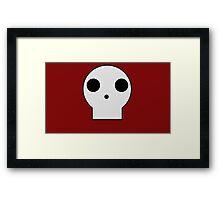 Skull Cartoon Framed Print