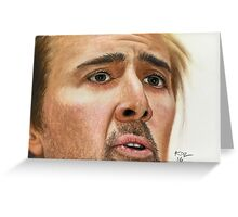 Ode to Nicolas Cage Greeting Card