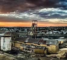 View Over Delprats Mine - Broken Hill by tbgphoto