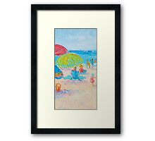 Beach Painting - A Relaxing Beach Day  Framed Print
