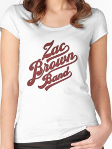 zac brown band logo red Women's Fitted Scoop T-Shirt