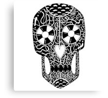 Scary cool skull illustration Canvas Print