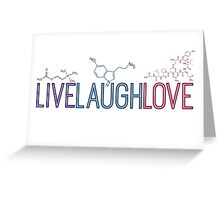 Live Laugh Love Molecules 2 Greeting Card