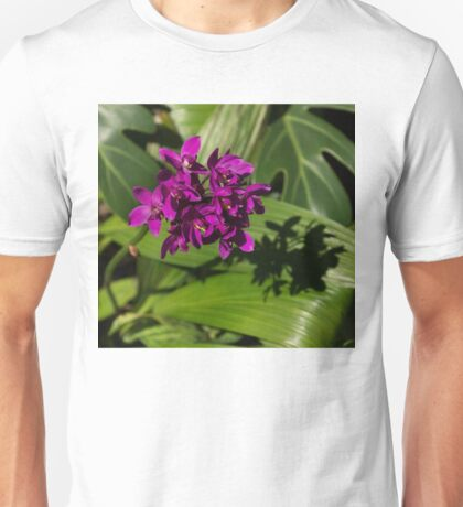 Hot Pink Orchids - Exotic Tropical Shadows Unisex T-Shirt