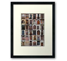Doors through Europe Framed Print