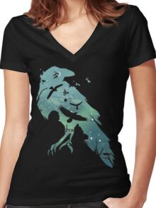 Crows Women's Fitted V-Neck T-Shirt