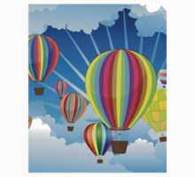 Air Balloons in the Sky 5 Kids Tee