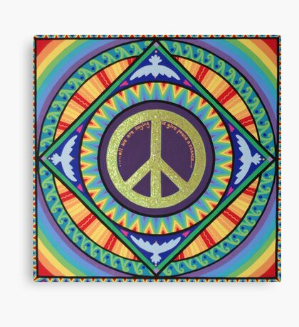All We Are Saying Is Give Peace A Chance Canvas Print