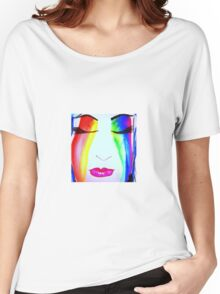 Rainbow face Women's Relaxed Fit T-Shirt
