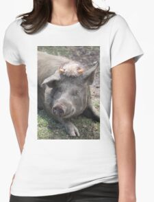 prize winning sow Jak Jak Jackie Womens Fitted T-Shirt