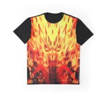 Music speaker and flames Graphic T-Shirt
