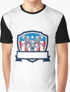 American Eagle Clutching Towing J Hook Shield Retro Graphic T-Shirt