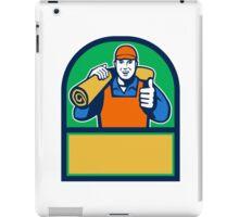 Carpet Layer Carry Mat Thumbs Up Half Circle Retro iPad Case/Skin
