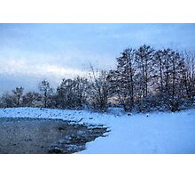 Snowy Beach Impressions Photographic Print