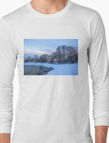 Snowy Beach Impressions Long Sleeve T-Shirt