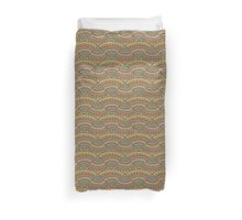 abstract doodle pizza pattern Duvet Cover