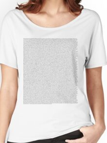 The Office pilot episode script (us) Women's Relaxed Fit T-Shirt