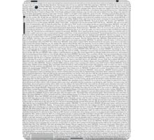 The Office pilot episode script (us) iPad Case/Skin