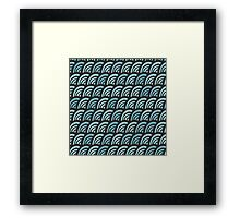 blue waves doodle pattern Framed Print