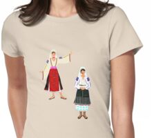 Muntenia and a Mehedinti  Romanian Female, Old Fashioned Peasant Costumes Womens Fitted T-Shirt
