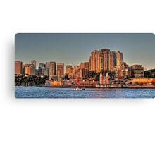 Sun Setting on Luna Park & Sydney Harbour Canvas Print