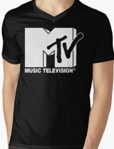 MTV Logo 3 Mens V-Neck T-Shirt