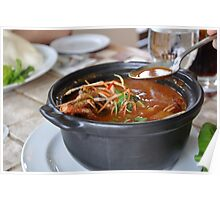 Delicious Asian Tom Yum soup Poster