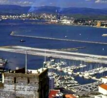 A View of Gibraltar and Spain Sticker
