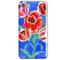 Poppies Bouquet Painting iPhone Case/Skin