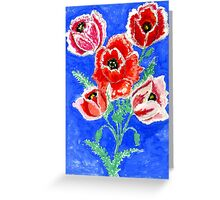 Poppies Bouquet Painting Greeting Card
