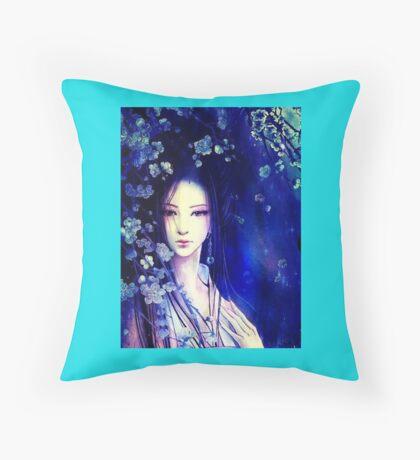 Beautiful Oriental Girl Throw Pillow