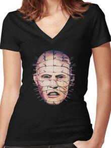 Hellraiser Pinhead Women's Fitted V-Neck T-Shirt