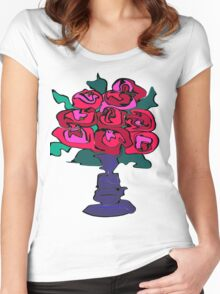 ROSES FOR YOU Women's Fitted Scoop T-Shirt