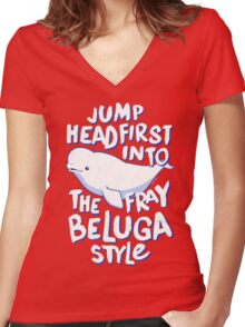 Beluga Style Women's Fitted V-Neck T-Shirt