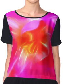 Watercolor Tulip Chiffon Top