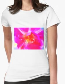 Watercolor Tulip Womens Fitted T-Shirt