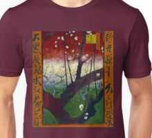Vincent van Gogh Flowering Plum Orchard near Hiroshige Unisex T-Shirt
