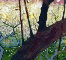 Vincent van Gogh Flowering Plum Orchard near Hiroshige Sticker